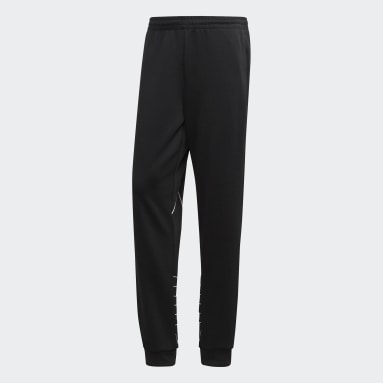 Men Originals Black Big Trefoil Outline Track Pants