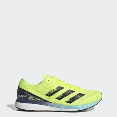 Sapatos Adizero Boston 9 Amarelo Running