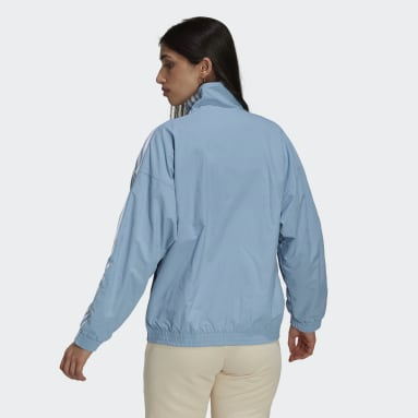 Women's Originals Blue Adicolor Classics Lock-Up Track Jacket