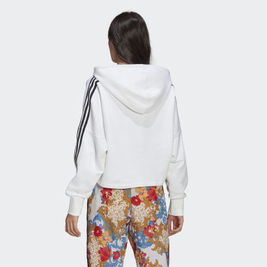 Hoodie HER Studio London Boxy Bianco Donna Originals