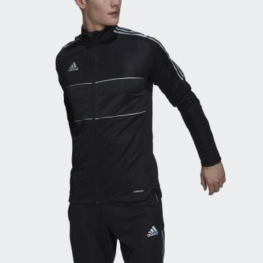 Men Football Black Tiro Reflective Track Jacket