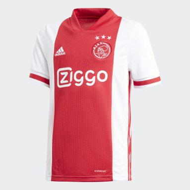Camisola Principal do Ajax Amsterdam Branco Criança Futebol