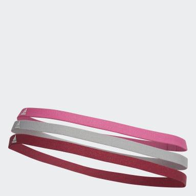 Bandas para el pelo Paquete de 3 (UNISEX) Rosado Training