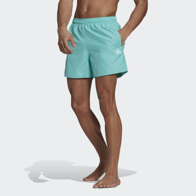 Men Swimming Green Solid Swim Shorts