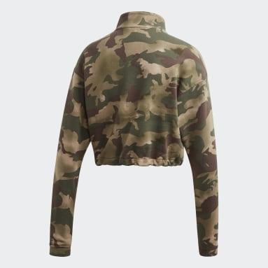 Women Originals Beige Half-Zip Sweatshirt