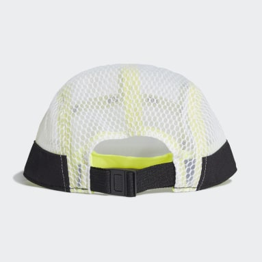 Cricket White Five-Panel Athletics Cap