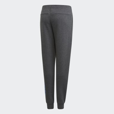 Girls Gym & Training Grey Linear Pants