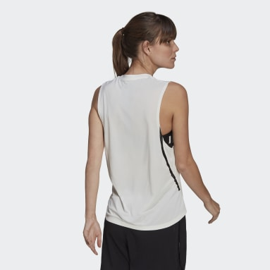 Camiseta sin mangas Agravic Parley Blanco Mujer Outdoor Urbano