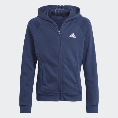 Dívky Cvičení A Trénink modrá Sportovní souprava Bold Hooded