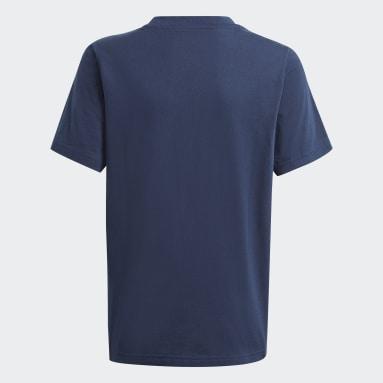 Graphic Logo Print T-skjorte Blå