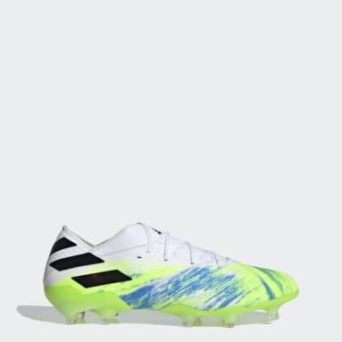 Men Football White Nemeziz 19.1 Firm Ground Boots