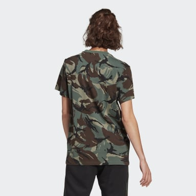 Women Sportswear Green adidas Essentials Boyfriend Camouflage T-Shirt