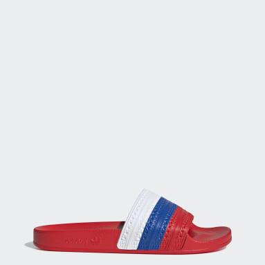 Originals červená Pantofle adilette