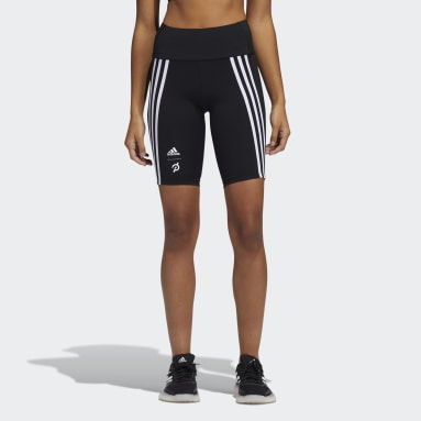 Women Cycling Black adidas x Peloton 9-Inch Short Tights
