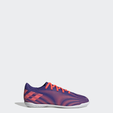 Boys Futsal Purple Nemeziz .4 Indoor Boots