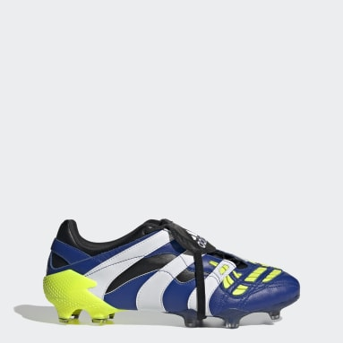 Men Soccer Blue Predator Accelerator Firm Ground Cleats