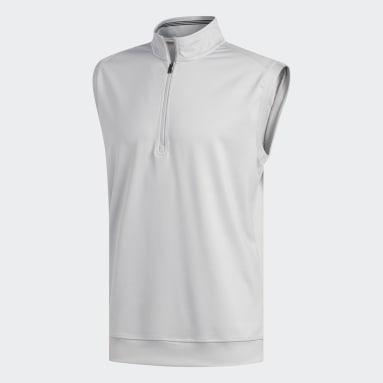 Men Golf Grey Classic Club 1/4 Zip Vest