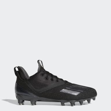 Men's Football Black Adizero Scorch Football Cleats