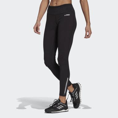Women TERREX Black Agravic Trail Running Leggings