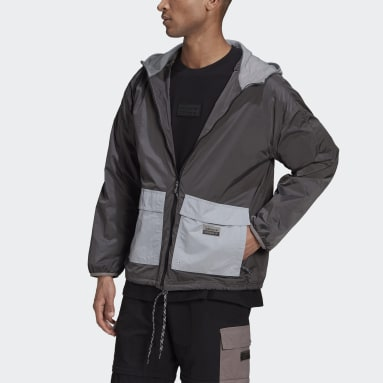 Men's Originals Grey R.Y.V. Utility Windbreaker