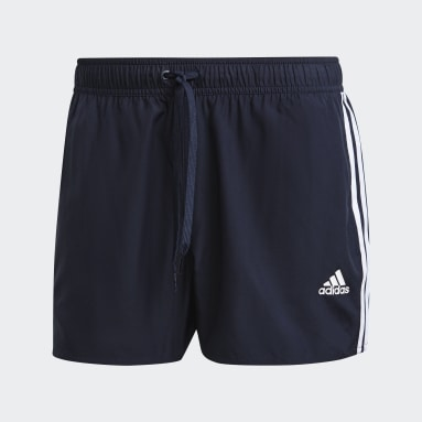 Herr Simning Blå Classic 3-Stripes Swim Shorts