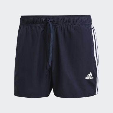 Muži Plavání modrá Plavecké šortky Classic 3-Stripes