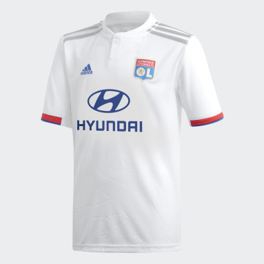 Boys Football White Olympique Lyonnais Home Jersey