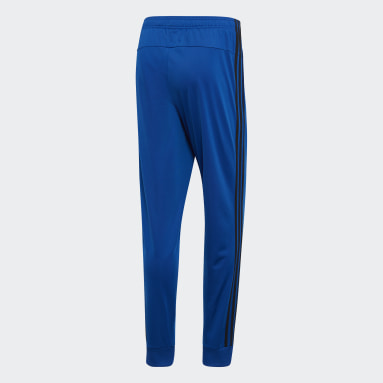 Men's Essentials Blue Essentials 3-Stripes Tapered Tricot Pants