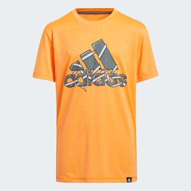 Youth Training Orange Shoelace Badge of Sport Tee