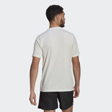 Men TERREX White Terrex Primeblue Trail Functional Logo Tee