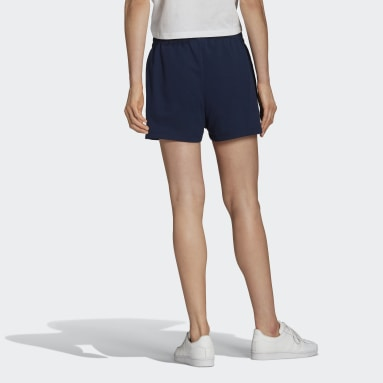 Tennis Luxe 3-Stripes Shorts Niebieski