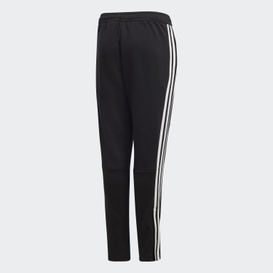 Kids Football Black Tiro 19 French Terry Tracksuit Bottoms