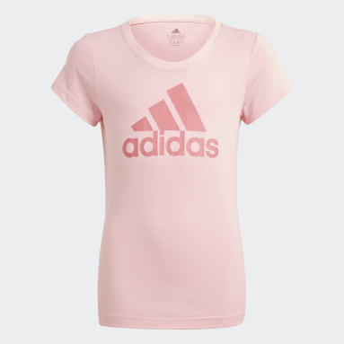 Polo adidas Essentials Rosado Niña Diseño Deportivo