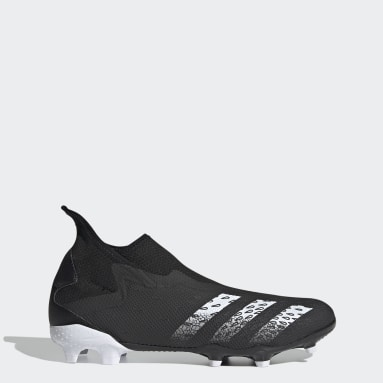 Soccer Black Predator Freak.3 Laceless Firm Ground Cleats