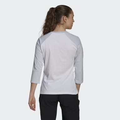 T-shirt Five Ten Graphic 3/4 Sleeve Blanc Femmes Five Ten