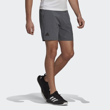 Men Tennis Grey Ergo Melange Tennis Shorts