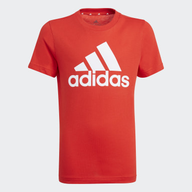 T-shirt Essentials Rouge Garçons Sportswear