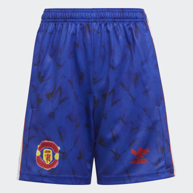 Kids Football Blue Manchester United Human Race Shorts