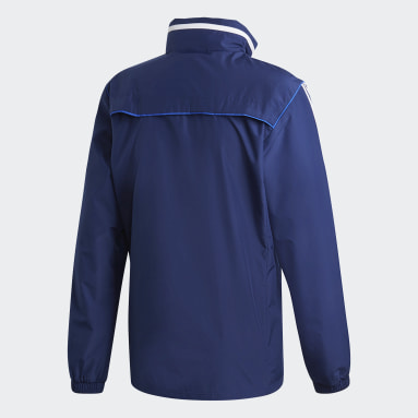 Men Gym & Training Blue Tiro 19 All-Weather Jacket