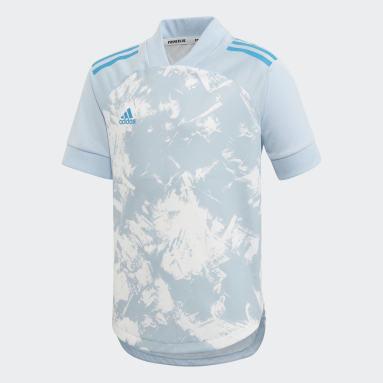 Camiseta Condivo 20 Primeblue Azul Niño Gimnasio Y Entrenamiento