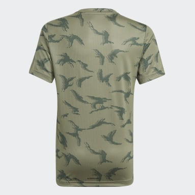 Boys Sportswear Green adidas Designed To Move Camouflage Tee
