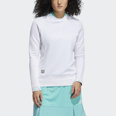 Women Golf White Equipment Crew Sweatshirt