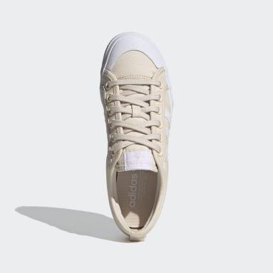 Frauen Originals Nizza Platform Schuh Beige