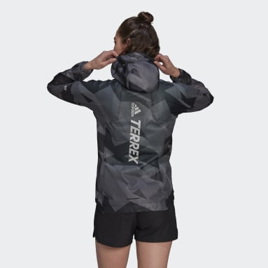 Women's TERREX Grey Terrex Agravic Graphic 2.5 Layer Rain Jacket