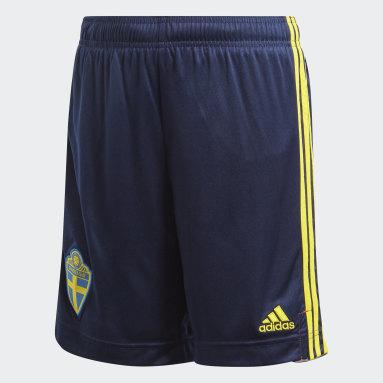 Short Suède Domicile Bleu Enfants Football