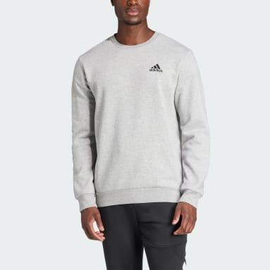 Men Sport Inspired Grey Essentials Fleece Sweatshirt