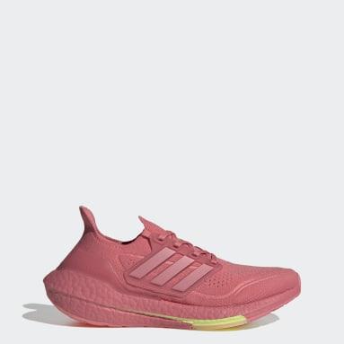 Sapatos Ultraboost 21 Rosa Mulher Running