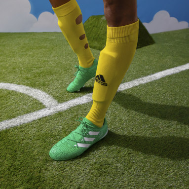 Bota de fútbol Gamemode Knit césped natural seco Verde Fútbol