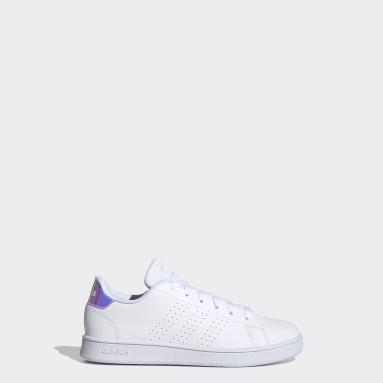 Kids 4-8 Years Tennis White Advantage Shoes
