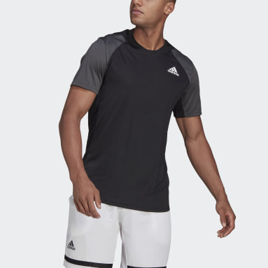 Men Tennis Black Club Tennis Tee
